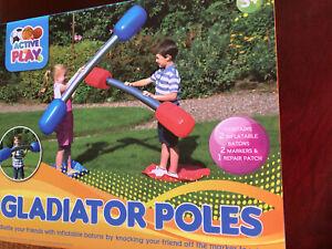 * INFLATABLE Gladiator Poles OUTDOOR GLADIATOR GAME SET SUMMER FUN Adult Kids