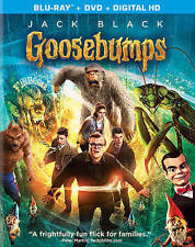 Goosebumps (Blu-ray, 2016) Jack Black, Dylan Minnette, Odeya Rush, Amy Ryan