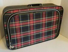 Vintage Buffalo Plaid Luggage Soft Sided Tartan Suitcase Photo Prop MCM