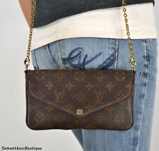 LOUIS VUITTON FELICIE POCHETTE MONOGRAM CROSSBODY SHOULDER BAG HANDBAG PURSE