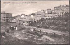 cartolina FRASCATI panorama con veduta della stazione