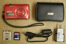 Nikon COOLPIX S4300 16MP 6X zoom w/battery, 8 GB SD card, USB cable, warranty