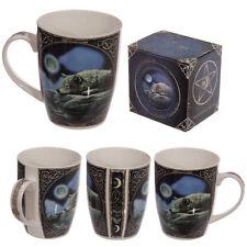 Fantasy Porzellan Tasse Lisa Parker Wolf auf Fels liegend 350 ml Kaffeetasse