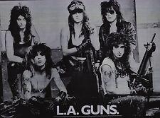 MUSIQUE Affiche~ La Guns 604ms Vintage NOS 58.4x81.3cm ORIGINAL Phil Lewis