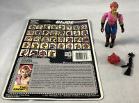 GI Joe 1986 ZARANA Action Figure 100% Complete w/ Card Back Hasbro ARAH #2