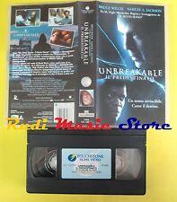 film VHS UNBREAKABLE IL PREDESTINATO 2001 bruce willis TOUCHSTONE (F55*) no dvd