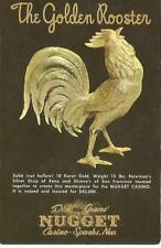 Sparks Nv Dick Graves' Nugget The Golden Rooster Postcard 1950s