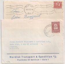 2 COVERS NORGE NORVEGE TO SVERIGE SWEDEN. L454