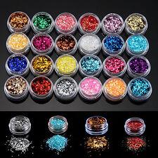 GTI - 24 Sparkle Glitter Dust Powder Hexagon Nail Art Decoration 1MM