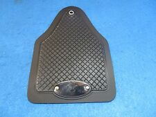 Vintage Retro Bicycle Fender Mud Flap in Black with Logo - New