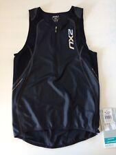 2XU Triathlon Top - Endurance Aero Tri Singlet - Schwarz - Herren M - UVP 89,95