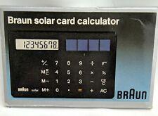 Seltener BRAUN LUBS Taschenrechner ST1 Solar Card Calculator OVP Dietrich Lubs