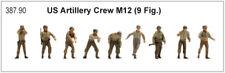 Artitec 387.90 - 1/87/h0 US Artillery Crew pour m12 (387.78) - terminé modèle