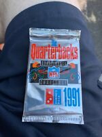 1991 UD DOMINO'S PIZZA QUARTERBACK CHALLENGE FOOTBALL PACK LOT OF 50