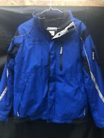 Columbia OMNI-TECH Boys Youth Winter Snow Ski Jacket Coat Blue Size M 14/16