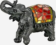 NEW Quoizel Elephant Tiffany Style Accent Table Lamp Stained Glass TFX839Y