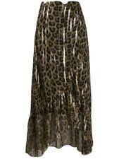 Ba&Sh Jalvy Leopard Print Maxi Skirt Size 2 New