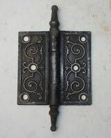 """One Antique Cast Iron Eastlake Victorian Door Hinge 3.5"""" x 3.5"""" Steeple Tips"""