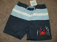 Janie and Jack Baby Boy By The Sea Swim Shorts Trunks Crab Size 12-18 months NWT