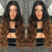 Glueless Brazilian Human Hair Lace Front Wig 150Density Full Lace Wig Ombre Wave
