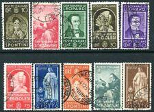 ITALY-1937 Famous Italians Set of 10 Values Sg 521-530 FINE USED V29475