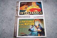 """2 FILMS - [ """"INTOLERANCE"""" ET """"NAISSANCE D'UNE NATION"""" ] - MUET - NOIR & BLANC"""