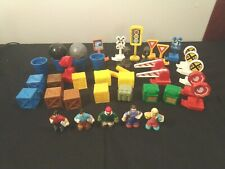Lot of 35 Geotrax Accessories & 5 Figures -- Fisher Price Train