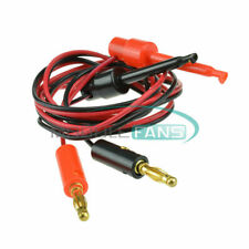 1set 4mm Gold Plated banana plug to Large Test Hook Clip Cable Test Probes