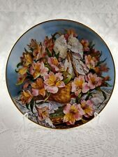 Franklin Mint Princess Grace gracia alstroemeria plate by Katherine Austen