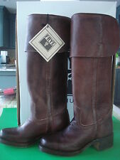 WOMENS FRYE CAMPUS BOOTS TALL OVER THE KNEE WALNUT 6 SOLD OUT NEW