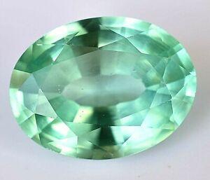 AAA 10.00 Ct Natural Green MONTANA Flawless Sapphire Oval Cut CERTIFIED Gem