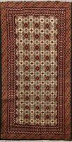 3'x5' Tribal Geometric Balouch Hand-knotted Afghan Area Rug Wool Kitchen Carpet