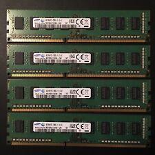 4 Samsung 4GB 1Rx8 PC3-12800U-11-13-A1 DDR3 1600