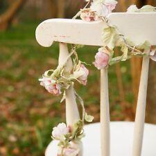 Shabby Vintage Chic Pink Rose Flower Garland Bedroom Wedding Decoration Gift