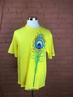 NWT Men's Coogi Shirt Size XL Yellow W/Multicolored Design Short Sleeve U-1