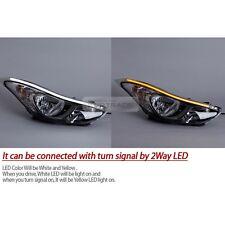 Front Chrome Molding Head Light Lamp EyeLine LED for HYUNDAI 2011-16 Elantra MD
