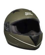 Genuine Royal Enfield Helmet - STREET MONO STRIPE HELMET BATTLE GREEN