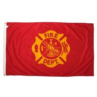 NEW 3X5FT FIRE DEPARTMENT FIREFIGHTER SUPERIOR QUALITY FLAG usa seller