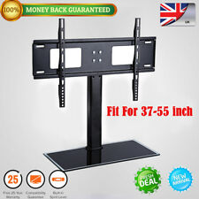 "26 71"" Universal Wall Top TV Stand W/ Bracket Metal Pedestal LCD VESA Mount UK Fit for 37-55 Inch"