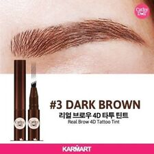 DARK BROWN Cathy Doll Real Brow 4D Tattoo Tint Tip Magic Pen Eyebrow Quick Dry