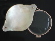 Antique Gold & Mother of Pearl Artist's REDUCING magnifying glass