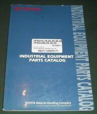 Toyota 7fgu 5fgcu 15 18 20 25 30 32 Forklift Lift Truck Parts Manual Book