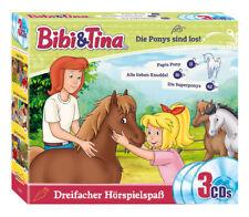 Bibi und Tina - Die Ponys sind los! - 3er Box - CD - Hörspiel - *NEU*