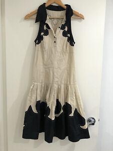 Moschino Made In Italy Collared Fit Flare Dress  Knee Length Size SML