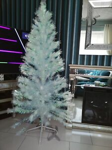 6ft Iridescent White Multi Function Fibre Optic Christmas/Xmas Tree rrp £99