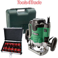 Hitachi M12VE Electronic Router 1/2 inch 240V With 12pc Router Bit Cutter Set