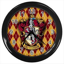 NEW* HOT HARRY POTTER GRYFFINDOR HOGWARTS SCHOOL Black Wall Clock Decor Gift D02