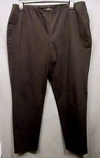 TALBOTS Women plus size 20W BLACK side zipper denim like stretch PANTS EUC s0126