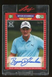 2021 Leaf Pro Set Golf Bryson Dechambeau RC Rookie Signed AUTO 38/99