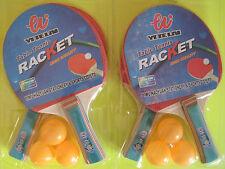 Tischtennis Schläger Set 6 Bälle und 4 Tisch Tennis Schläger Tischtennisschläger